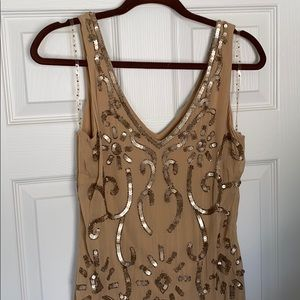 Sequin nude dress